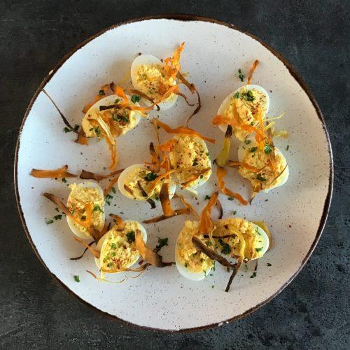 Œufs mimosa sans mayonnaise - Recette Cuisine en Équilibre