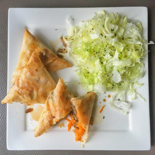 Samoussas au bœuf - Recette Cuisine en Équilibre